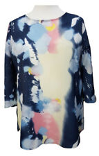 Ladies Plus Size Summer Tunic Top Tie Dye Multioloured 3/4 sleeve Sizes 16-18/20