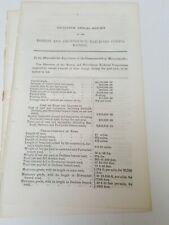 RARE 1847 RR report Boston & Providence Railroad Dedham Pawtucket Seekonk MA RI