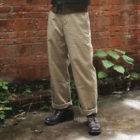 Bronson Repro 1942 Model Early Military Chino Khaki Pants US Army Cargo Trouser