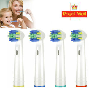 4X Toothbrush Replacement Heads for Oral B Braun Electric Brush Pro Models UK