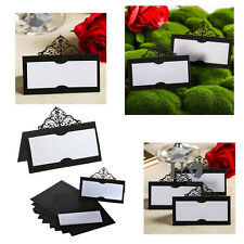 12pc Black Crown Laser Cut Wedding Table Name Place Cards Favour Birthday Decor