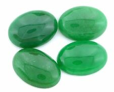 ONE 25x18 25mm x 18mm Oval Dyed Green Jade Cab Cabochon Gem Stone Gemstone CM69