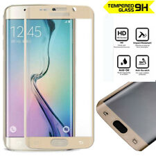 Genuine 3D Tempered Glass Screen Protector for Samsung Galaxy S6 Edge Gold
