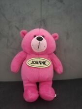 PINK Ted Teddy Bear Toy Stuffed Animal Name Joanne relcro