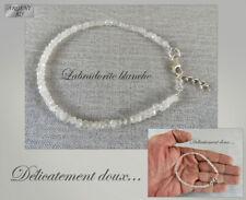 Très joli Bracelet en Pierre de lune arc-en-ciel et Argent 925 - B-AR-20