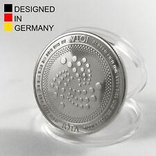 Physische IOTA Münze mit exklusivem Design inkl. Tangle - versilbert - HODLcat