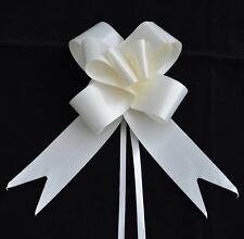 50mm 10 Cream Pull Bows Tribute Ribbons Wedding Florist Gift Party Decorations