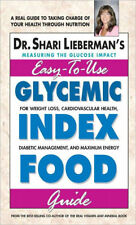 Shari Lieberman's Easy to Use Glycemic Index Food Guide Brand New Book WT60599