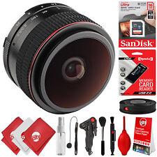 Opteka 6.5mm f/2 Fisheye Lens Kit for Canon EOS-M EF-M M100 M50 M10 M6 M5 M3 M2