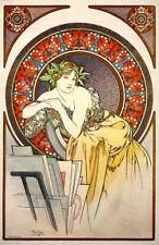 Art Nouveau Print Alphonse Mucha Muse