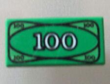 LEGO 3069bpx7 @@ Tile 1 x 2 100 Dollar Money Pattern @@ 4559 4560 4854 6765