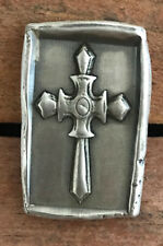 "MK BarZ 1 ozt ""KNIGHTS TEMPLAR CROSS"" 3D Stamped Bar .999 FS Hand Poured"