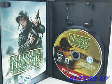 MEDAL OF HONOR FRONTLINE PlayStation 2  PS2 COMPLETE with INSTRUCTIONS