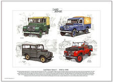 "LAND-ROVER SERIES I - 1948-1958  Fine Art Print - S1 80"" 86"" SW Fire Engine 107"""