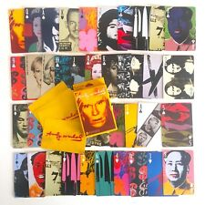 RARE ANDY WARHOL FOUNDATION POP ART COLLECTOR'S PLAYING CARDS DECK BOX SET - NEW