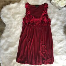 Twenty One -Size L/G- Women's Ruby Red Sequins Party Cocktail Dress Stretch