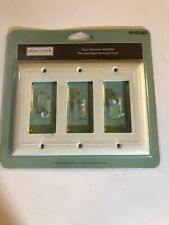 2-Pk allen roth Christmas Glass Candle Decorator 6-inch Plate