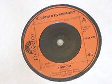 "Elephants Memory:  Tonight     1974   STUNNING NEAR MINT  7"""