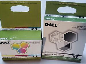 BRAND NEW OEM Genuine Dell SERIES 21 BLACK & Genuine Dell Series 21 Y499D Color