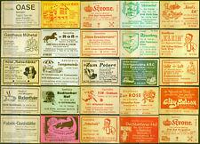 25 alte Gasthaus-Streichholzetiketten aus Deutschland #838