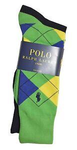 NWT Polo Ralph Lauren Men's 2/3-Pack Assorted Dress Socks M (10 - 13)