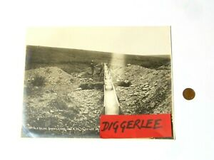 """1903 Sunset Creek ARCTIC MINING & TRADING Co Nowell Sepia Photograph 10x8"""" Gold"""