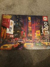 Educa 13047 Times Square New York 1000pc Neon jigsaw Puzzle brand new sealed
