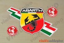 PEGATINA STICKER VINILO Abarth ref2 insignia autocollant aufkleber adesivi