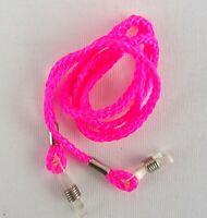 Brillenband Brillenkordel Brillenkette Nylon pink Brillenbänder Öse transparent