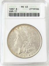 "1887 Morgan Silver Dollar ""VAM 11"" ANACS MS 63"
