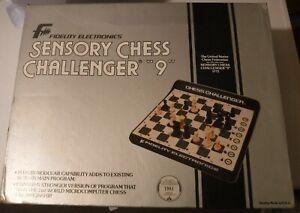 "VINTAGE Fidelity Electronics SENSORY CHESS CHALLENGER ""9""   W BOX 1771 MINT"