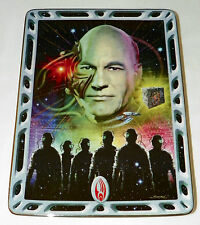 Franklin Mint Star Trek Villians of the Galaxy Locutus of Borg Plate Stand & COA