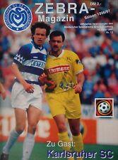 Programm 1996/97 MSV Duisburg - Karlsruher SC