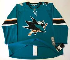 SAN JOSE SHARKS - size 52 = sz Large - ADIDAS HOCKEY JERSEY Climalite Authentic