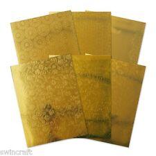 Hunkydory accompagnando texturas-Selección puesta de sol de oro A4 8 Hojas mirrim 101