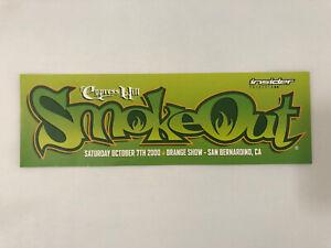 Cypress Hill Smoke Out 2000 RARE Original Promo Sticker - 311 System Of A Down