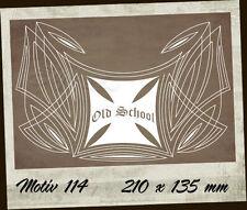 Pinstriping Aufkleber/Sticker 114 1-farbig Vinyl Iron Cross Malteser V8 Harley