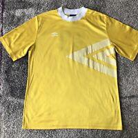 Vintage Umbro Yellow Soccer Shirt #33 Mens Large