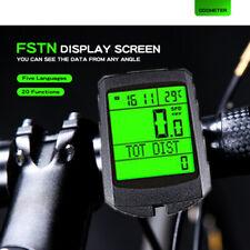 Wireless Bicycle Speedometer Waterproof Odometer LCD Cycle Bike Meter Computer