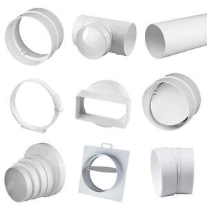 Rundrohrsystem PVC Lüftungsrohr Bogen Verbinder Kniestück T-Stück Reduktion