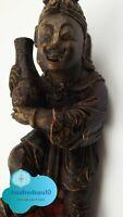 Statue porteur d'eau polychrome époque Ming (1368 à 1644)