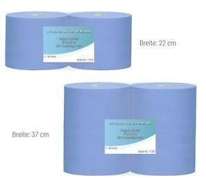 Putztuchrollen Putzpapierrolle blau | 2-lagig/3-lagig | 500/1000 Blatt | 37/22cm