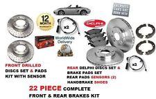 FOR PORSCHE BOXSTER 2.5 1996-1999 FRONT & REAR BRAKE DISC & PAD & SENSOR & SHOE