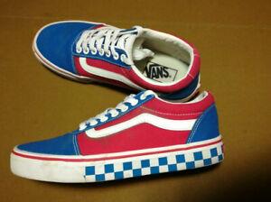 VANS Old School shoes us M7 W 8 25cm EU 39 white & blue checkerboard VNC
