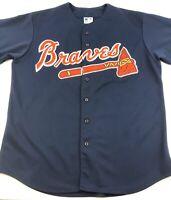 Atlanta Braves MLB Majestic Jersey Made in USA Blue Mens XL Extra Large Vintage