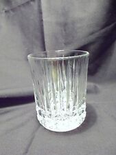*NEW* Set of 8 vintage FOSTORIA clear CRYSTAL glass HERITAGE dof rock GLASSES