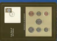 Coin Sets of All Nations Guernsey Brown w/card 1979-1983 UNC £1 1981 Lily 25JU84