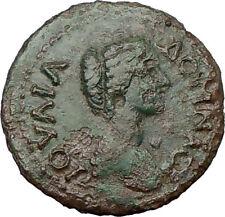 JULIA DOMNA Serdica 193AD Ancient  Roman Coin TYCHE Fortuna Cult LUCK i22248
