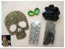 diy cellphone case deco den kit punk 3D bling alloy skull crystal flat back