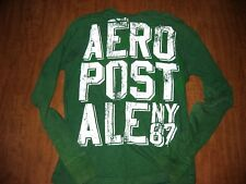 AEROPOSTALE juniors small longsleeves NY 87 distressed French air mail logo